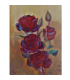 Branch of roses - painting by Angeliki - 18x24 cm