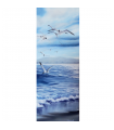 Seagulls - Painting by Angeliki - 25x65 cm
