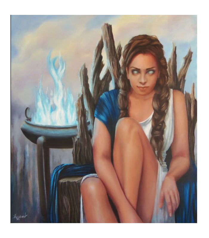 Pythia the Oracle - painting by Angeliki - 90x80 cm
